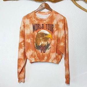 Rebellious One Cinched Waist Popover Sweatshirt